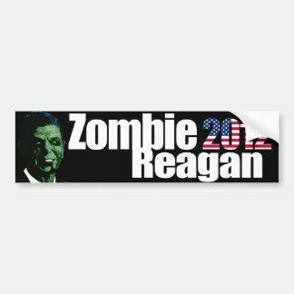 Pegatina para el parachoques de Reagan del zombi Pegatina Para Auto