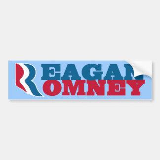 Pegatina para el parachoques de Reagan Romney Pegatina Para Auto