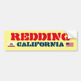 Pegatina para el parachoques de Redding California Pegatina Para Auto