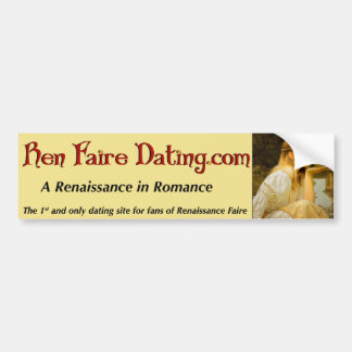Pegatina para el parachoques de Ren Faire Dating.c Pegatina Para Auto