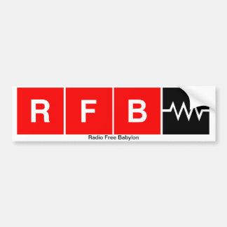 Pegatina para el parachoques de RFB Etiqueta De Parachoque