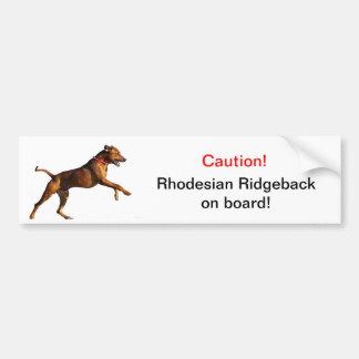 Pegatina para el parachoques de Rhodesian Ridgebac Pegatina Para Auto