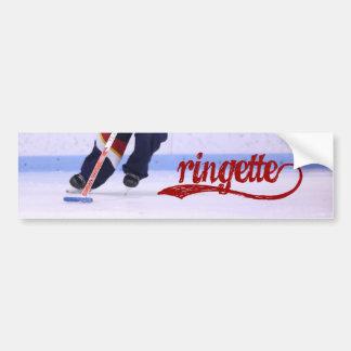 Pegatina para el parachoques de Ringette (escritur Pegatina Para Auto