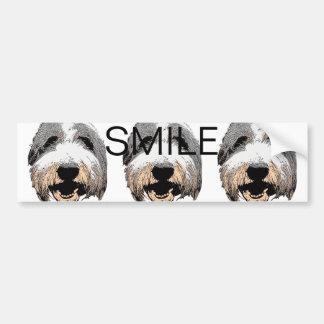 Pegatina para el parachoques de risa de la sonrisa etiqueta de parachoque