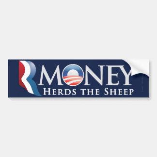 Pegatina para el parachoques de RMoney Romney Obam Pegatina Para Auto