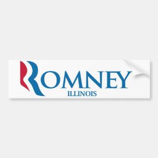 Pegatina para el parachoques de Romney Illinois Pegatina Para Auto