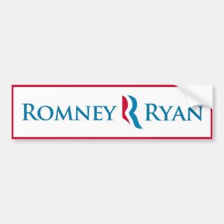 Pegatina para el parachoques de Romney Ryan (blanc Pegatina Para Auto