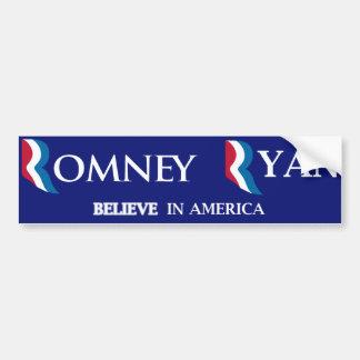 Pegatina para el parachoques de Romney Ryan Pegatina De Parachoque