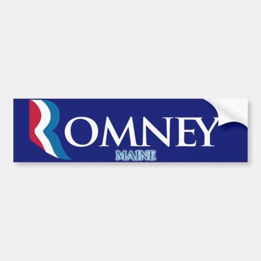 Pegatina para el parachoques de Romney Ryan Maine Etiqueta De Parachoque