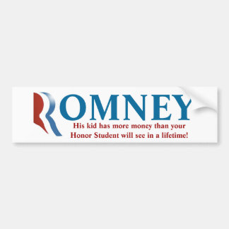 ¡Pegatina para el parachoques de Romney - su niño! Pegatina Para Auto