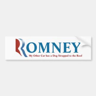 ¡Pegatina para el parachoques de Romney - su perro Pegatina Para Auto