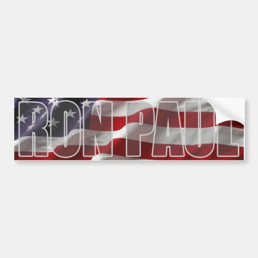 Pegatina para el parachoques de Ron Paul Etiqueta De Parachoque