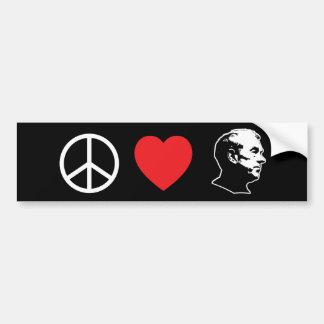 Pegatina para el parachoques de Ron Paul del amor  Pegatina Para Auto