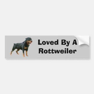 Pegatina para el parachoques de Rottweiler Etiqueta De Parachoque