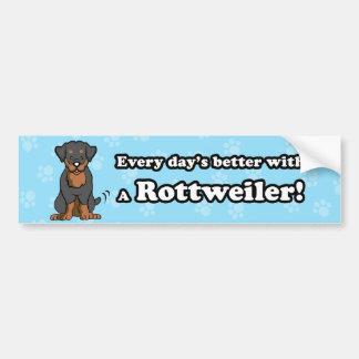Pegatina para el parachoques de Rottweiler del dib Pegatina Para Auto
