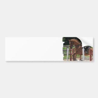 Pegatina para el parachoques de salto del caballo pegatina de parachoque
