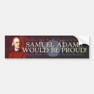 Pegatina para el parachoques de Samuel Adams Pegatina De Parachoque