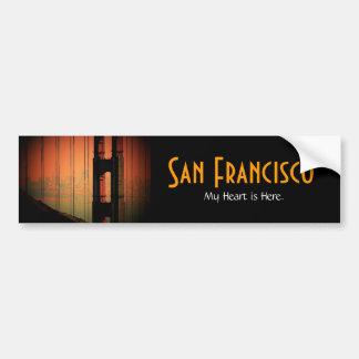 Pegatina para el parachoques de San Francisco - mo Pegatina De Parachoque