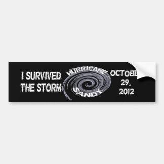 Pegatina para el parachoques de Sandy del huracán Etiqueta De Parachoque