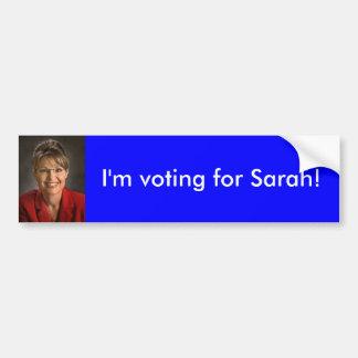 Pegatina para el parachoques de Sarah Palin Pegatina Para Auto