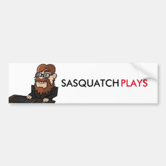 Pegatina para el parachoques de SasquatchPlays Pegatina Para Auto