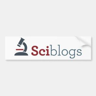Pegatina para el parachoques de Sciblogs - blanco Pegatina Para Auto