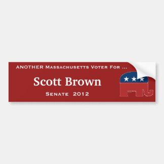 Pegatina para el parachoques de Scott Brown Pegatina Para Auto
