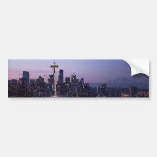 Pegatina para el parachoques de Seattle Washington Pegatina Para Auto