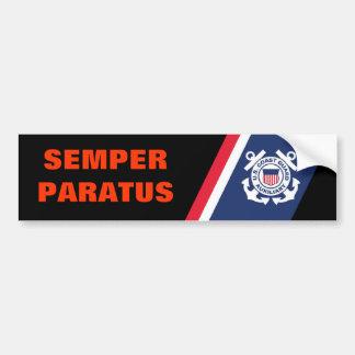 Pegatina para el parachoques de Semper Paratus Pegatina Para Auto