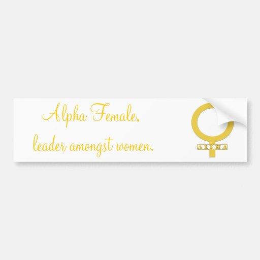 Pegatina para el parachoques de sexo femenino alfa pegatina de parachoque