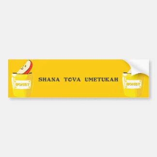 Pegatina para el parachoques de Shana Tova Pegatina Para Auto