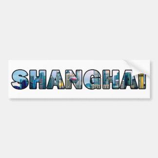 Pegatina para el parachoques de Shangai China Pegatina Para Auto