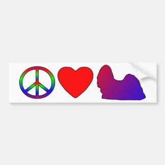 Pegatina para el parachoques de Shih Tzus del amor Pegatina Para Auto