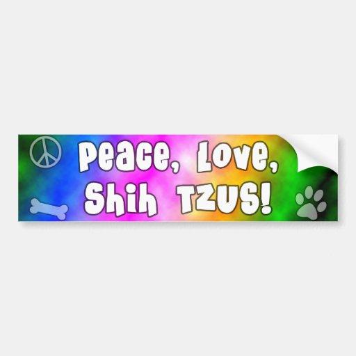Pegatina para el parachoques de Shih Tzus del amor Etiqueta De Parachoque