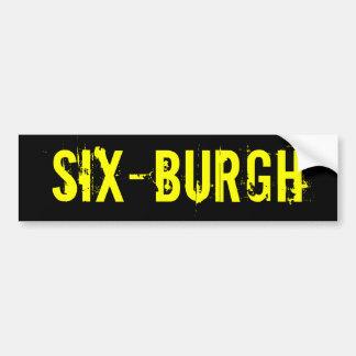 Pegatina para el parachoques de SixBurgh de los Pi Etiqueta De Parachoque