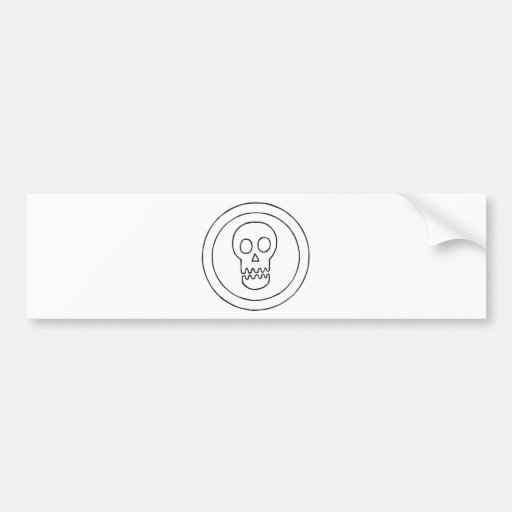 Pegatina para el parachoques de SkullGeo Pegatina De Parachoque