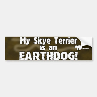 Pegatina para el parachoques de Skye Terrier Earth Etiqueta De Parachoque
