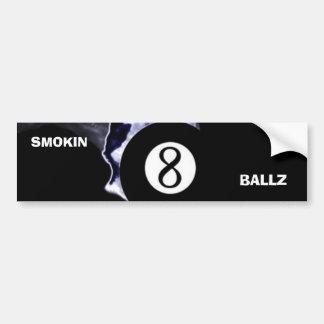 Pegatina para el parachoques de Smokin 8 Ballz Pegatina Para Auto