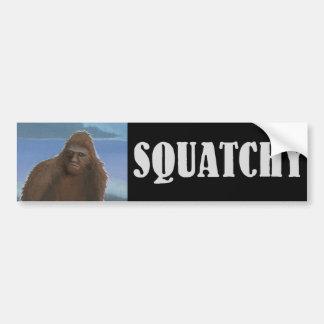 Pegatina para el parachoques de Squatchy Pegatina De Parachoque