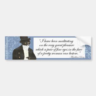 Pegatina para el parachoques de Sr. Darcy Pegatina Para Auto