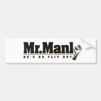 Pegatina para el parachoques de Sr. Manly Pegatina De Parachoque
