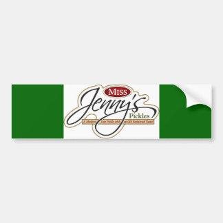 Pegatina para el parachoques de Srta. Jenny Etiqueta De Parachoque