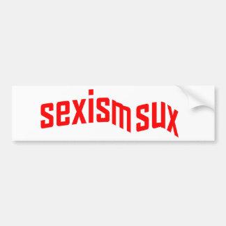 Pegatina para el parachoques de Sux del sexismo Etiqueta De Parachoque