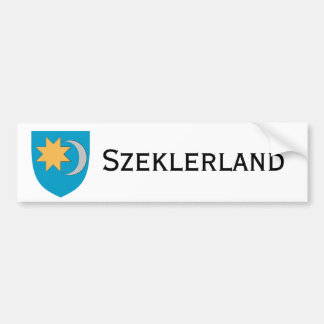Pegatina para el parachoques de Szeklerland/Székel Pegatina De Parachoque