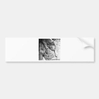 Pegatina para el parachoques de talla egipcia anti pegatina para auto
