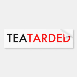 Pegatina para el parachoques de TeaTarded Pegatina Para Auto