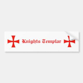 Pegatina para el parachoques de Templar de los cab Etiqueta De Parachoque