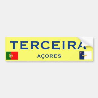 Pegatina para el parachoques de Terceira* Etiqueta De Parachoque