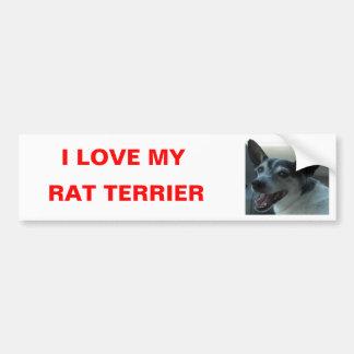 Pegatina para el parachoques de Terrier de rata Pegatina De Parachoque