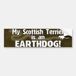 Pegatina para el parachoques de Terrier Earthdog d Etiqueta De Parachoque